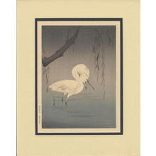 Watanabe Seitei: Two Egrets Wading Under a Willow Tree - Japanese Art Open Database