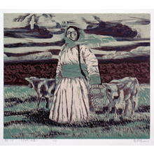 Wu Enqi: On the way home from herding - Japanese Art Open Database