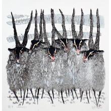 Wu Enqi: Sheep - Japanese Art Open Database