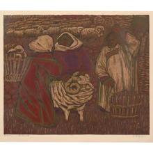 Wu Enqi: Waiting for the spring lamb - Japanese Art Open Database