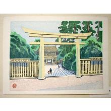 Yamaguchi Gen: Unknown Shrine - Japanese Art Open Database