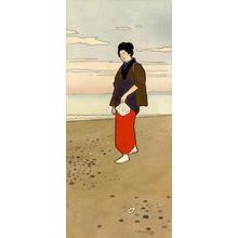 Yamamoto J: Bijin on Beach - Japanese Art Open Database