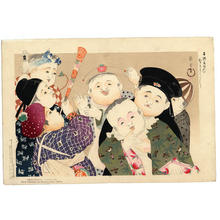 山本昇雲: Boys party - Japanese Art Open Database