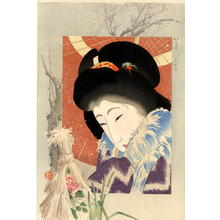 Yamamoto Shoun: Snow peony — 寒牡丹 - Japanese Art Open Database