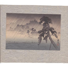 山本昇雲: Fishermen in Rainstorm - Japanese Art Open Database