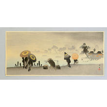 山本昇雲: Parasols at Riverside - Japanese Art Open Database