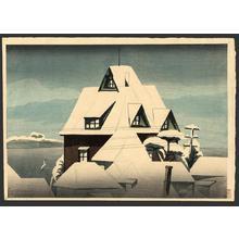 Yamamura Koka: Snowy rooftops - Japanese Art Open Database