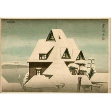 Yamamura Koka: Snowy rooftops - Japanese Art Open Database