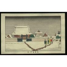 Inoue Yasuji: East Gate at Asakusa - Japanese Art Open Database