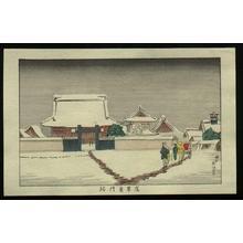井上安治: East Gate at Asakusa - Japanese Art Open Database