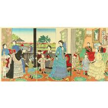 井上安治: Emperor enjoying piece with family — 共楽泰平貴顕図 - Japanese Art Open Database