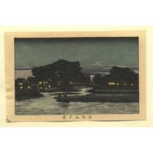 井上安治: Evening View of Matsuchiyama - Japanese Art Open Database