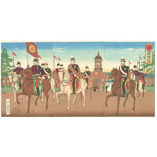 Inoue Yasuji: Imperial Guards - Japanese Art Open Database