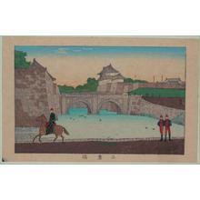 Inoue Yasuji: Nijubashi Bridge — 二重橋 - Japanese Art Open Database