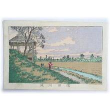 Inoue Yasuji: Sumidagawa riverbank — 隅田川堤 - Japanese Art Open Database