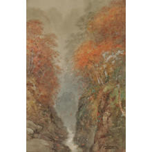 Yokouchi G: Canyon Stream in Autumn - Japanese Art Open Database