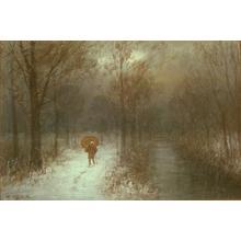 Yokouchi G: Forest Path at Night - Japanese Art Open Database