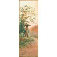 Yokouchi G: Lantern by dirt road - Japanese Art Open Database