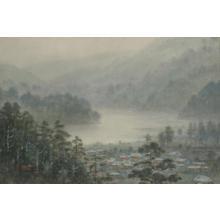 Yokouchi G: Misty Shoreline View - Japanese Art Open Database