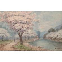 Yoshida A: Cherry Trees in Bloom - Japanese Art Open Database