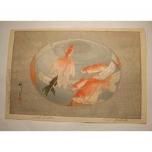 Yoshida Fujio: Gold Fishes - Japanese Art Open Database