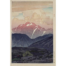 Yoshida Hiroshi: Morning on Mt.Tsurugi - Japanese Art Open Database