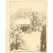 吉田博: Snow in Nakazato - Japanese Art Open Database