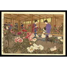 Yoshida Hiroshi: Tokugawa Peony Garden - Japanese Art Open Database