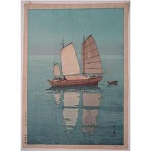 Yoshida Hiroshi: Sailing Boats- Afternoon - Japanese Art Open Database