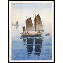 Yoshida Hiroshi: Sailing Boats- Forenoon - Japanese Art Open Database
