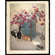 Yoshida Hiroshi: Chickens - Japanese Art Open Database