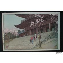 吉田博: Chion-in Temple Gate - Japanese Art Open Database