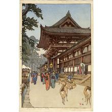吉田博: Daibutsu Temple Gate - Japanese Art Open Database