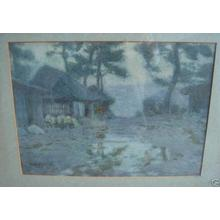 吉田博: Dawn Farm Scene - Japanese Art Open Database