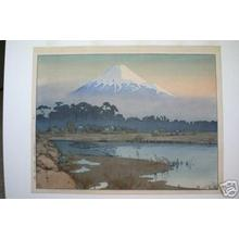 Yoshida Hiroshi: Fuji- First Light of the Sun - Japanese Art Open Database