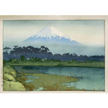吉田博: Fuji- First Light of the Sun - Japanese Art Open Database