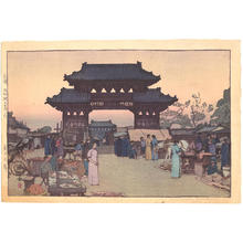 吉田博: Market in Mukden - Japanese Art Open Database