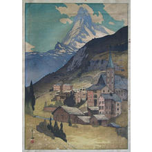 吉田博: Matterhorn - Day - Japanese Art Open Database