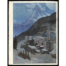 吉田博: Matterhorn - Night - Japanese Art Open Database