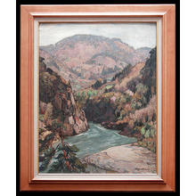 Yoshida Hiroshi: Mountain Stream- oil painting - Japanese Art Open Database