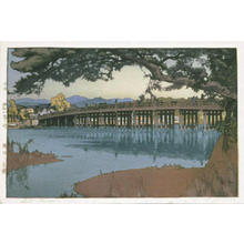 吉田博: Seta Bridge - Japanese Art Open Database