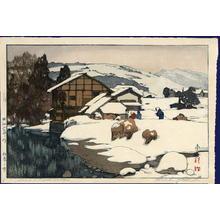 吉田博: Snow at Kashiwabara — 柏原之雪 - Japanese Art Open Database