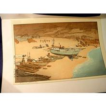 吉田博: Unknown, beach and boats - Japanese Art Open Database