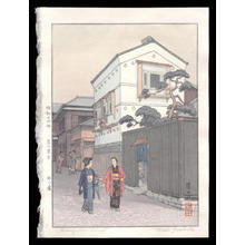 吉田遠志: Kikuzaka Street - Japanese Art Open Database