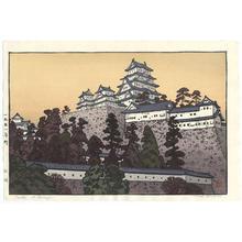 Yoshida Toshi: Oshiro - Castle at Himeji - Japanese Art Open Database