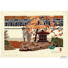 吉田遠志: Lanterns and Maples - Japanese Art Open Database