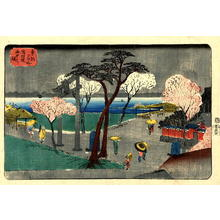 Utagawa Yoshikazu: Evening Rain - Japanese Art Open Database