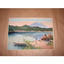 Maeda Masao: Lake Shore in the Morning — 湖畔の朝 - Japanese Art Open Database