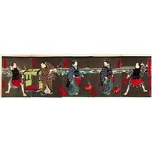 Utagawa Yoshitaki: Goshiki-gumo san-tamajishi - Japanese Art Open Database
