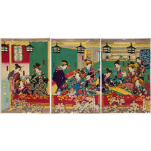 Utagawa Yoshitora: Inamoto-ro house at Shin-Yoshiwara - Japanese Art Open Database